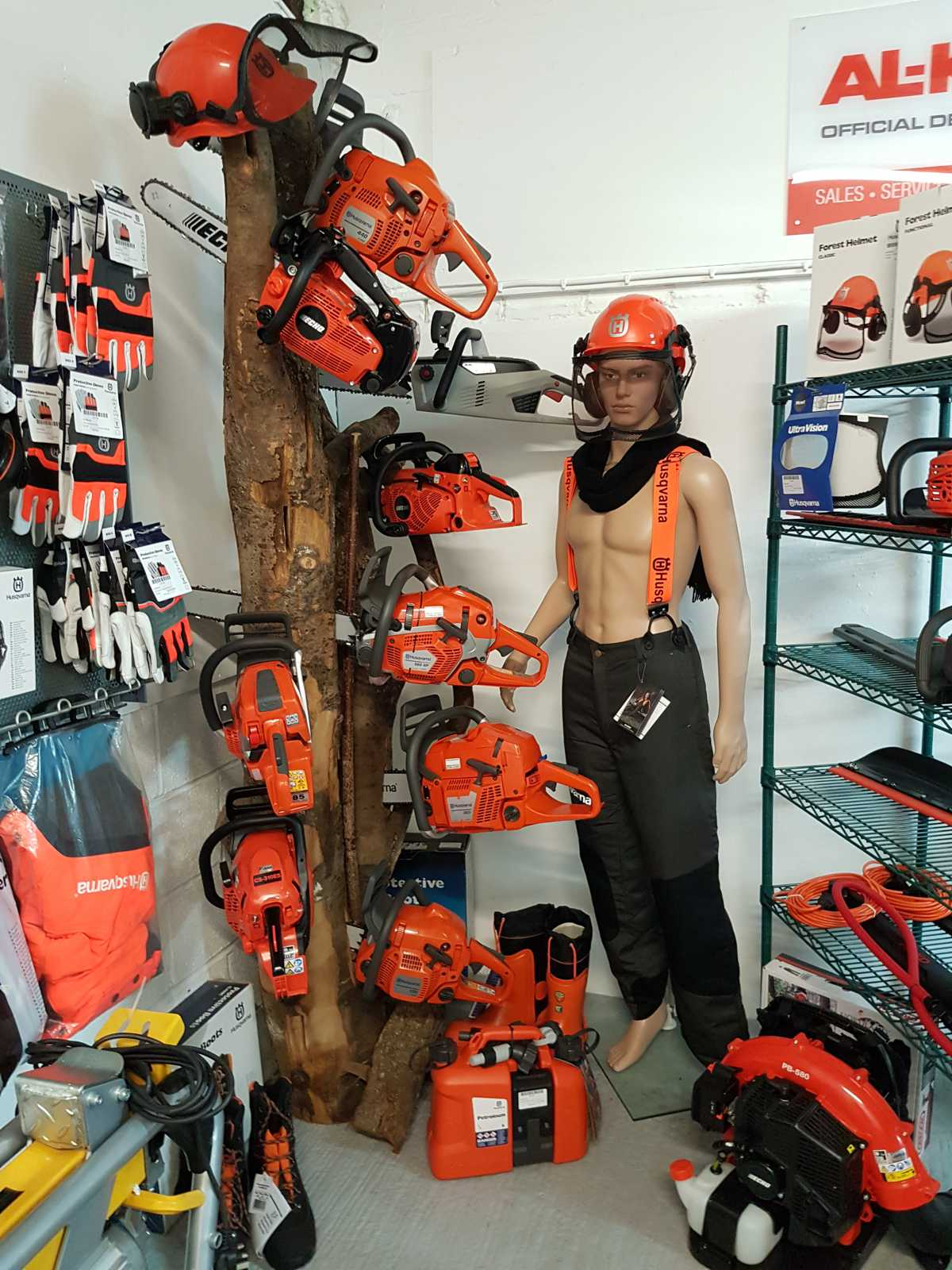Chainsaws on Display